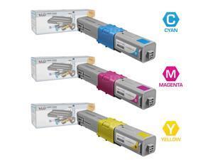 LD © Compatible Okidata 44469701, 44469702, 44469703 Set of 3 Color Toner Cartridges: 1 Cyan, 1 Magenta and 1 Yellow