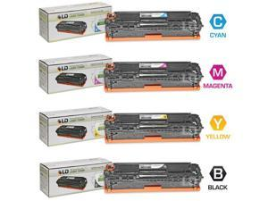 LD © Remanufactured Replacement Laser Toner Cartridges for HP Color LaserJet CM1415fnw / CP1525nw / CP1525nw: 1 Black CE320A, ...
