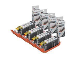 LD Compatible Canon PGI-250XL / PGI-250 / 6432B001 Set of 4 High Yield Pigment Black Inkjet Cartridges for PIXMA MX922,  ...