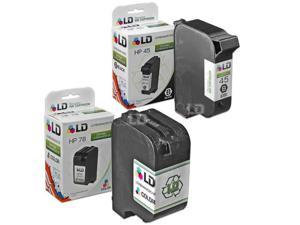 LD © Remanufactured Replacement Ink Cartridges for Hewlett Packard (HP) 51645A (HP 45) Black and C6578D (HP 78) Color (1 ...