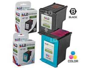 LD © Remanufactured Replacement Ink Cartridges for Hewlett Packard (HP) C9362WN (HP 92) Black and C8766WN (HP 95) Color (1 ...