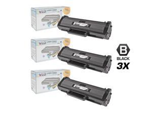 LD © Set of 3 Black Cartridges for the Samsung MLT-D104S for use in the ML-1665 Printes  for ML-1665, ML-1661, ML-1666, ML-1667, ...