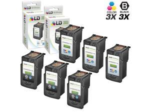 LD © Canon Remanufactured PG210XL / PG210 & CL211XL / CLI211 Set of 6 High Yield Ink Cartridges: Includes 3 Black PG-210XL ...