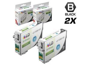 LD© Remanufactured Replacements for Epson T0981 Set of 2 High Yield Ink Cartridges Includes: 2 Black T098120 for use in Epson ...