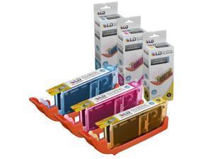 LD Compatible Canon Set of 3 CLI-251XL / CLI-251 High Yield Inkjet Cartridges: 1 Cyan 6449B001, 1 Magenta 6450B001 and 1 ...