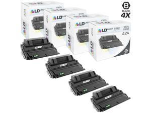 LD © Remanufactured Replacements for HP Q5942A / 42A Set of 4 Black Toner Cartridges