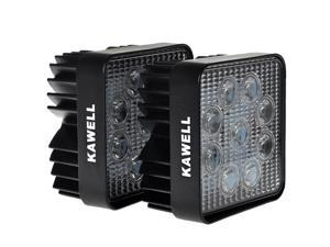 "KAWELL K2-2148 2-Pack 48W 30 Degree LED Spot Lights 4.3"" Square Tractor Marine Off-Road RV ATV Jeep Lamp Jeep Cabin Boat SUV Truck Car ATVs"