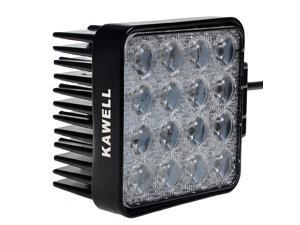 "Kawell 48W 4.3"" Off Road Waterproof LED Spot Work Light for ATV/Jeep/Boat/SUV/Truck/Car"