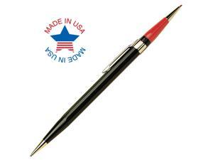 Autopoint Twinpoint Pencil 1.1mm Lead (Blac/Red), Black Barrel