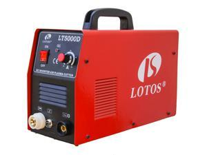 "LOTOS LT5000D 50A Air Inverter Plasma Cutter, Dual Voltage 110/220VAC 1/2"" Clean Cut"