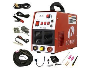 Lotos TIG/ Stick TIG200-DC Welder 200Amp with pedal inverter Power Welding for stainless steel, carbon, copper and other metal
