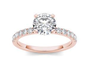 14k Rose Gold 3/4ct TDW Diamond Solitaire Engagement Ring (H-I, I2)