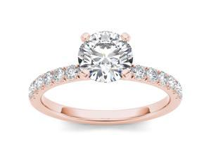 14k Rose Gold 3/4ct TDW Diamond Solitaire Engagement Ring (H-I, I2)