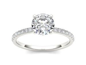 14k White Gold 1ct TDW Diamond Solitaire Engagement Ring (H-I, I2)