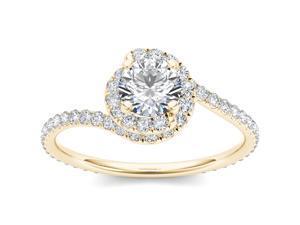 14k Yellow Gold 1ct TDW Three Stone  Diamond Engagement Ring (H-I, I2)
