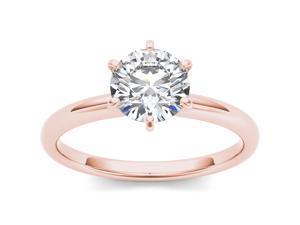 14k Rose Gold 1ct TDW Diamond Solitaire Engagement Ring (H-I, I2)