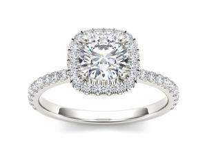 14k White Gold 1 1/4ct TDW Diamond Single Frame Solitaire  Engagement Ring (H-I, I2)