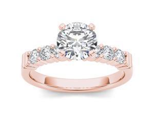 14k Rose Gold 7/8ct TDW Diamond Solitaire Engagement Ring (H-I, I2)