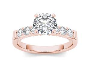 14k Rose Gold 7/8ct TDW Diamond Solitaire Engagement Ring (H-I, I2)