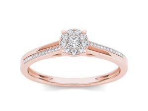 10k Rose Gold 1/6ct TDW Diamond Fashion Engagement Ring (H-I, I2)