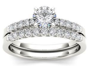 De Couer 14k White Gold 1ct TDW Diamond Adorable Engagement Ring (H-I, I2)