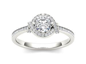 De Couer 14k White Gold 3/4ct TDW Diamond Solitaire Engagement Ring (H-I, I2)