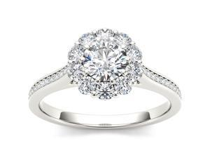 De Couer 14k White Gold 1 1/4ct TDW Diamond Solitaire Engagement Ring (H-I, I2)