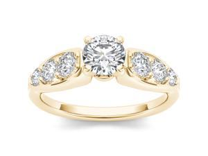 De Couer 14k Yellow Gold 1/2ct TDW Diamond Solitaire Engagement Ring (H-I, I2)