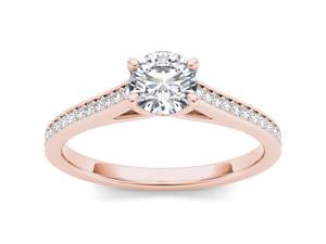 De Couer 14k Rose Gold 1 #47;2ct TDW Diamond Solitaire Engagement Ring  #40;H-I, I2 #41;