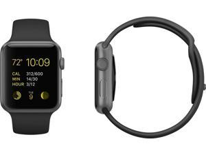 Apple Watch Sport MJ2X2LL/A 38mm Space Gray Aluminum Case with Black Sport Band
