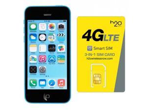 Apple iPhone 5C AT&T with H2O SIM card(1GB Data Included) Blue 8GB
