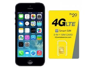 Apple iPhone 5 GSM Unlocked with H2O SIM card(1GB Data Included) Slate 32GB