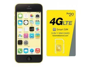 Apple iPhone 5C GSM Unlocked with H2O SIM card(1GB Data Included) Yellow 16GB