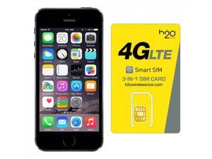 iPhone 5s AT&T with H2O SIM card(1GB Data Included) Space Gray 32GB