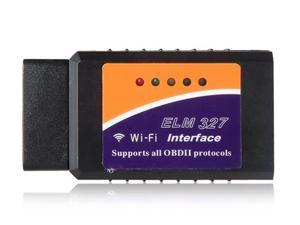ELM327 Wi-Fi OBD2 Car Diagnostic Reader Scanner for iPhone, iPad & PC Car Accessories (Black & Orange)