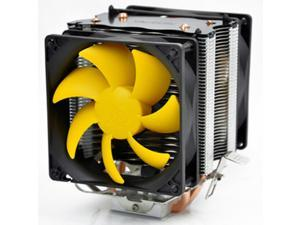 2 Heat Copper Pipes 90mm Dual Fan CPU Cooler Heatsink for AMD AM2/AM2+/AM3 Intel LGA775/1156/1155