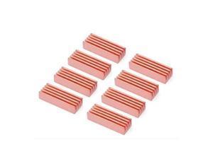 8pcs Copper Heat Sink Heatsinks Cooler For PC Computer DDR DDR2 Memory RAM