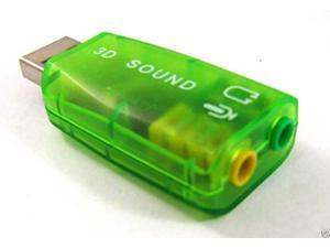 Green Virtual 5.1CH USB External 3D Sound Card Adapter