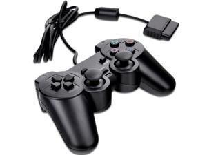 New Black Gamepad Game Vibration Controller for Sony PS2