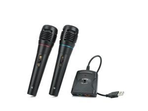 2 pcs 5-in-1 Wired Karaoke Microphone Set for PS3 / PS2 / PC / Wii / Xbox 360