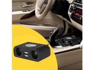 Samrt Multi-functional 2-Socket Cigarette Lighter Power Adapter DC Outlet Splitter with 5-Port USB Car Charger
