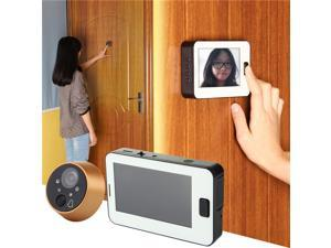 4.3 Inches TFT LCD Screen 4 Night Vision LEDs 170 Degree Wide Angle Digital Doorbell Peephole Door Camera - White