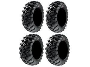 Full set of GBC Grim Reaper Radial (8ply) 25x8-12 and 25x10-12 ATV Tires (4)