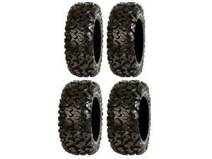 Full set of Sedona Rip Saw 26x9-12 and 26x10-12 ATV Tires (4)