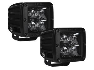 Rigid Industries D-Series Midnight Edition LED Spot Light White Pair [20221BLK]