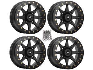 "Sedona Storm Beadlock ATV Wheels/Rims Black 14"" Arctic Cat TBX TRV MudPro"