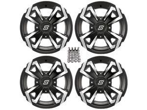 "Sedona Riot ATV Wheels/Rims Machined 12"" Arctic Cat TBX TRV MudPro"