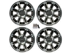 "Sedona Viper ATV Wheels/Rims Machined 12"" Honda Pioneer 1000"