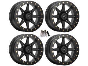 """Sedona Storm Beadlock ATV Wheels/Rims Black 14"""" Honda Pioneer 1000"""