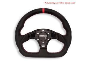 Assault Industries Black/Black D-Shaped Steering Wheel & Front Plate Polaris RZR